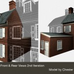 Dexter House front and rear Philadelphia Archaeology