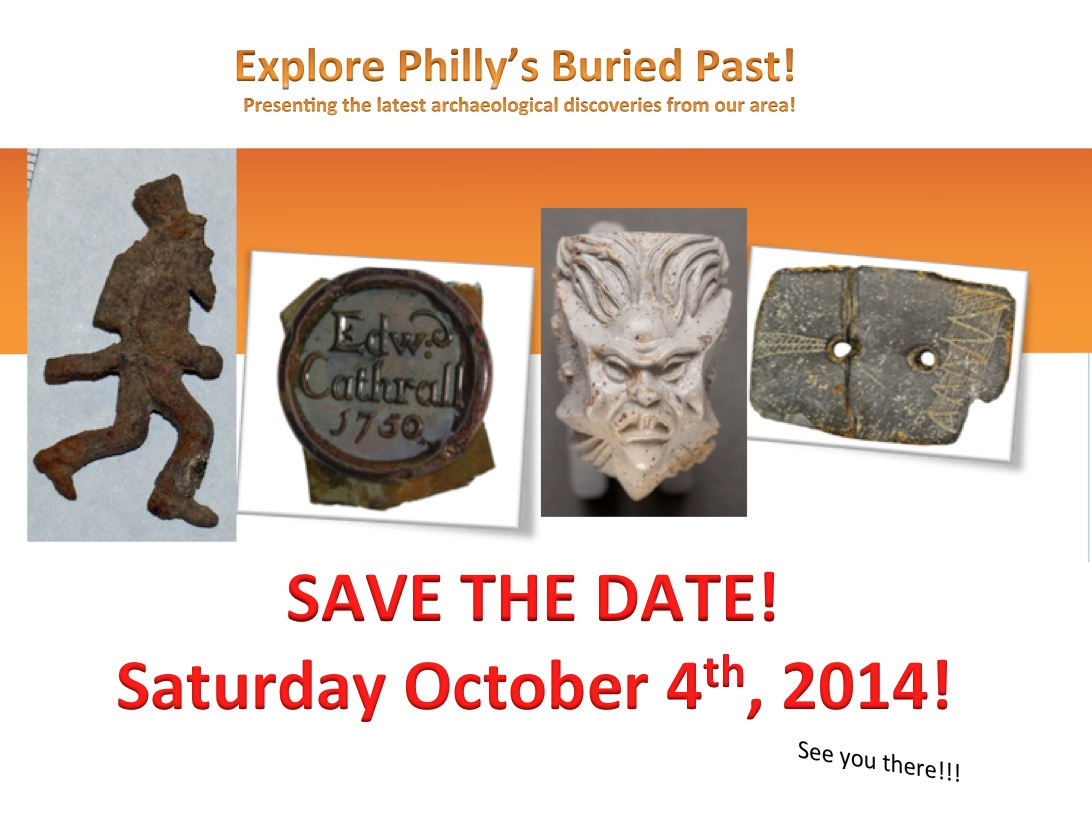 PHILADELPHIA ARCHAEOLOGY MONTH