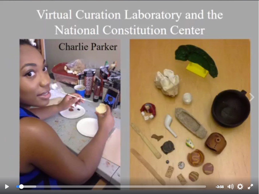 Click on the image above to view a slide show of the VCU students at work on the NCC display artifact reproductions. (Slideshow: Facebook post by Bernard K. Means, Director of the Virtual Curation Laboratory of Virginia Commonwealth University.