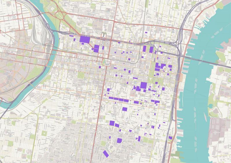 Burial PlacesCemetery Issues Map Database Philadelphia - Historic philadelphia map